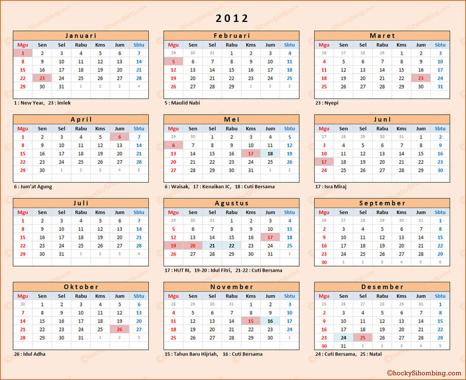 Kalender Indonesia 2012 | Search Results | Calendar 2015